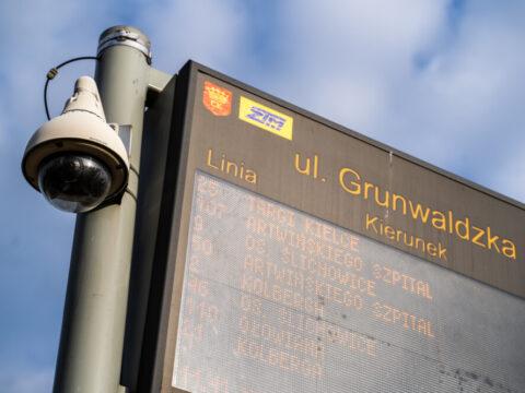 przystanek kamera tablica Grundwaldzka